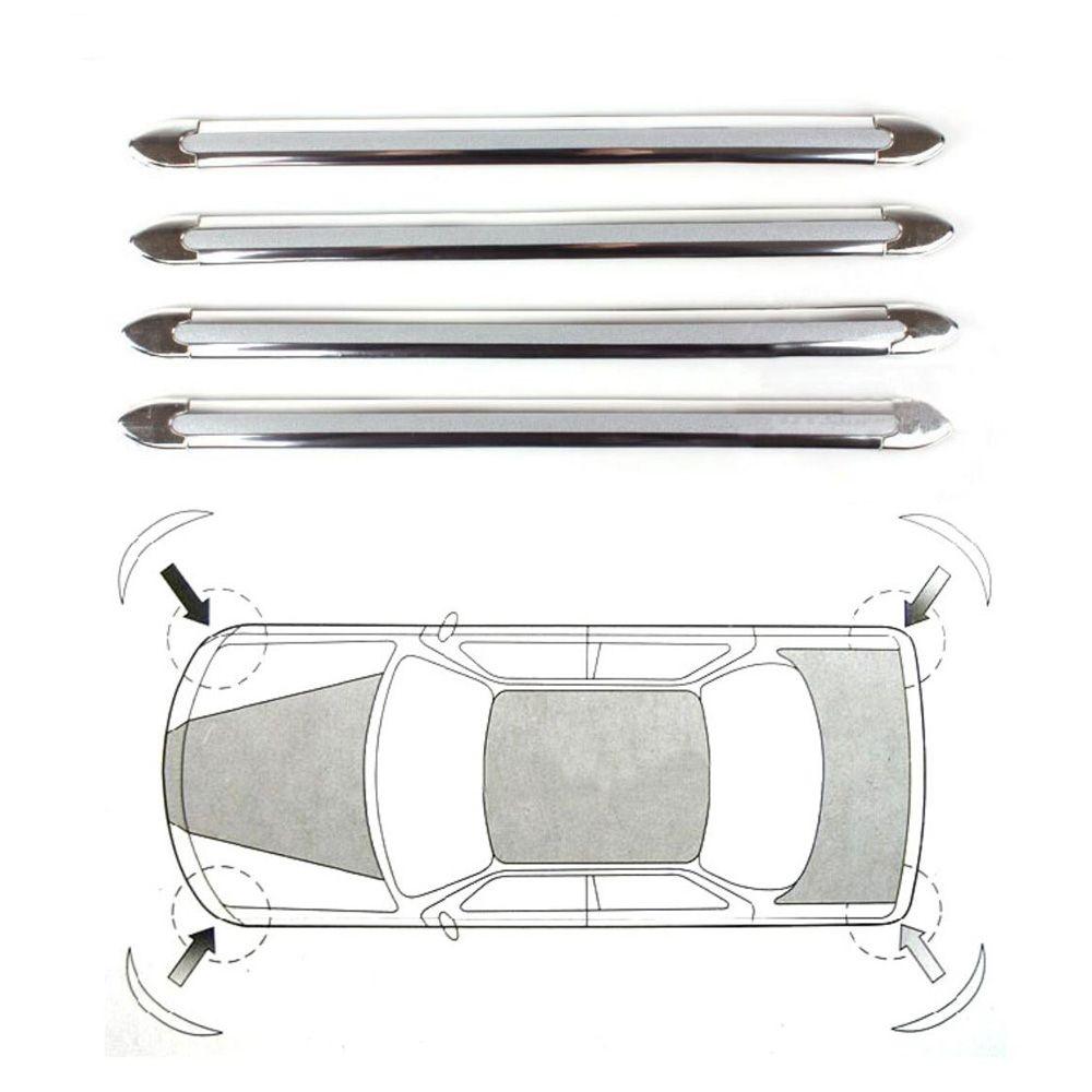 쉐이드 CAR AUTO BUMPER ANTI-SCRATCH 스티커 SILVER CHROME CORNER PROTECTOR GUARD STRIPE ANTI-COLLISION PROTECTION FLEXIBLE 바 ACCESSORIES