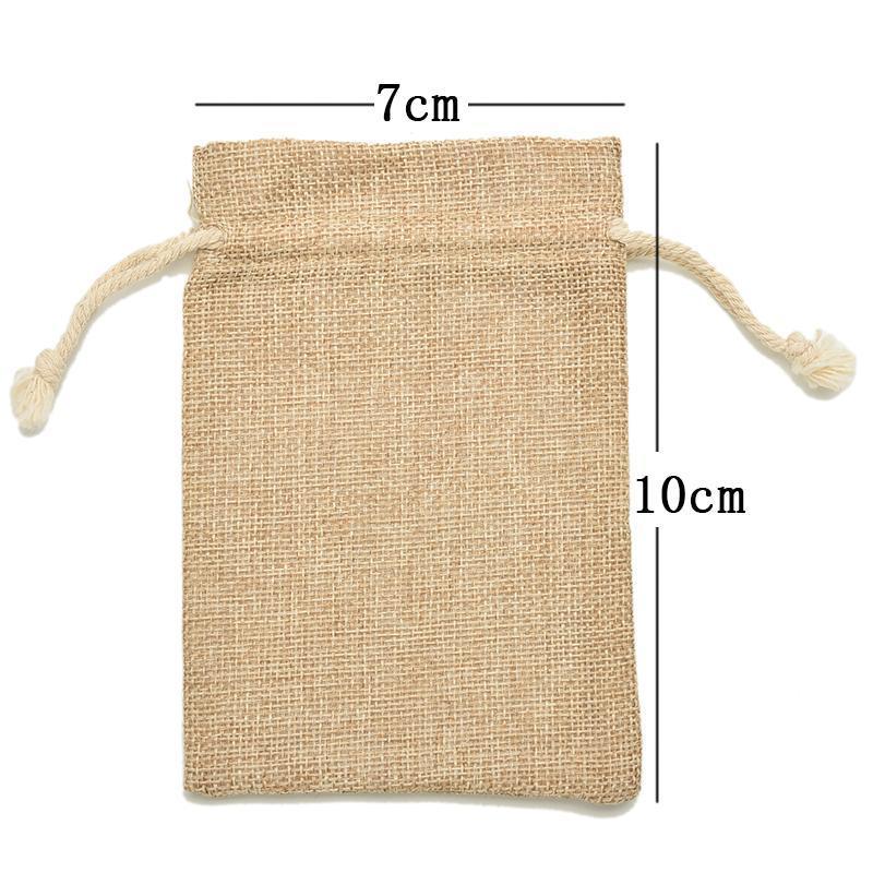 Sacchetti regalo Confezioni Regalo Sacchetto di imballaggio Sacchetti di caramelle per borse da sposa in feltro di lino vintage