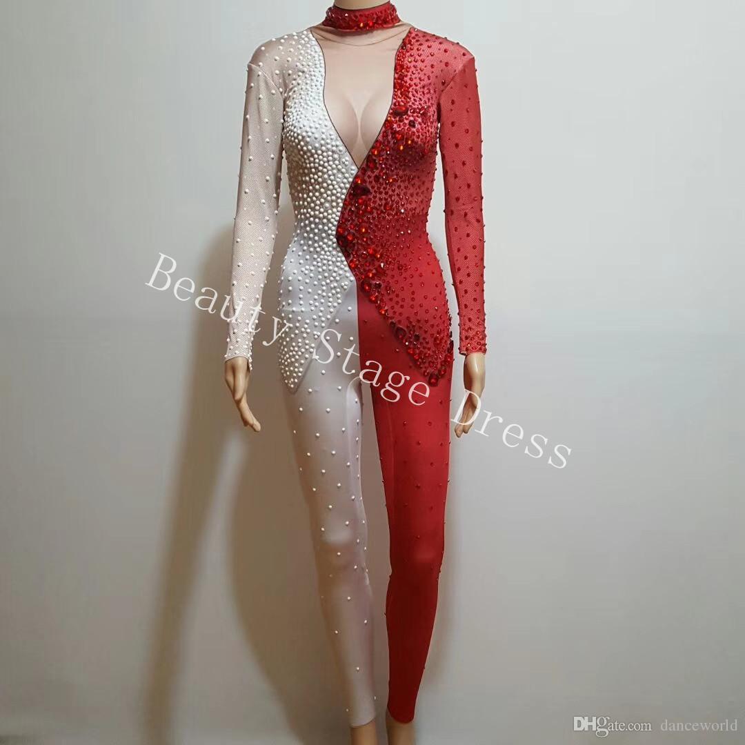 Dj ds الطائر المغرد الأزياء مصممة الدعاوى الحجارة الكاملة لونين بذلة الرقص ارتداء ملهى ارتداءها مطربة زي تمتد الزي