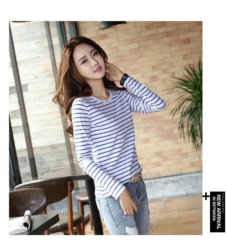 Autumn Winter Striped T-shirt Women Casual Plus Size Tops Tees Femme Long Sleeve Women Cotton Tshirt Camisetas Mujer 2019 (8)