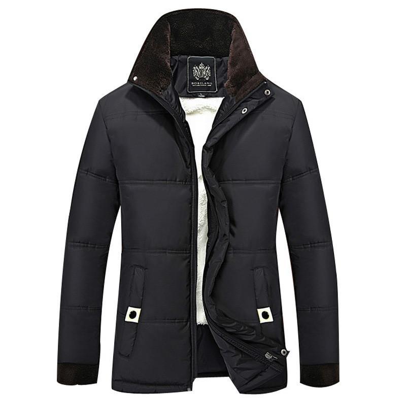 Oln الشتاء سترة الرجال الصوف سميكة الدافئة سترة مقنعين ستر الرجال مبطن الشتاء عارضة مقنعين معطف 4xl