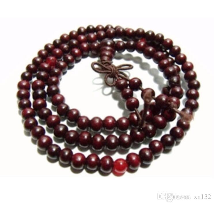 6mm Tibet Buddhism 108 Red Sandalwood Prayer Bead Mala