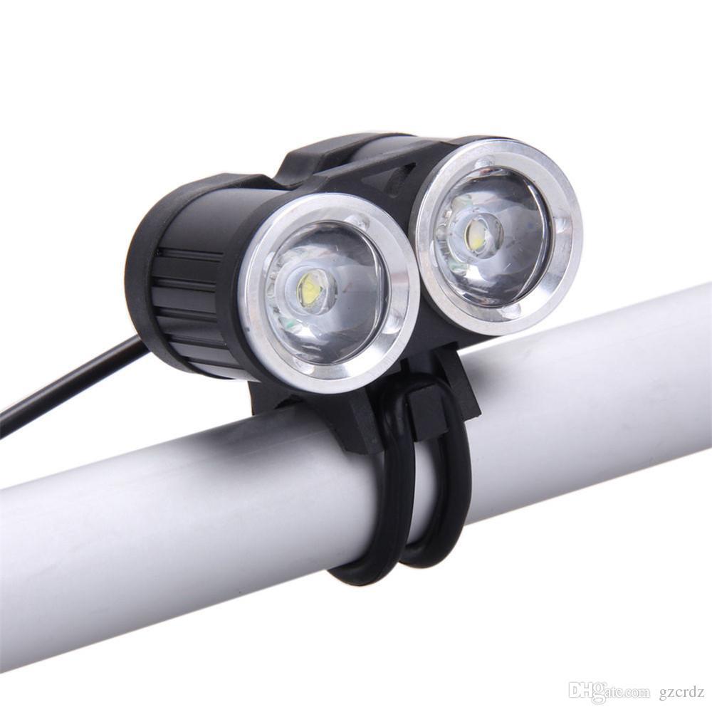 2000 Lumen Flashlight, 3 Modes,Bike Light CREE XM-L T6 LED USB HeadLamp Cycling Bicycle Light Waterproof HeadLight(Batteries not included)