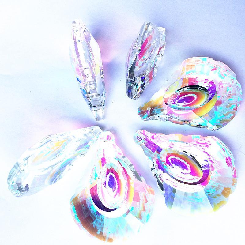 63MM Magnifique Cristal À Facettes Pendentifs Effacer AB Fenêtre En Verre Suspendus Prismes Suncatcher Pour Belle Décoration De Sapin De Noël