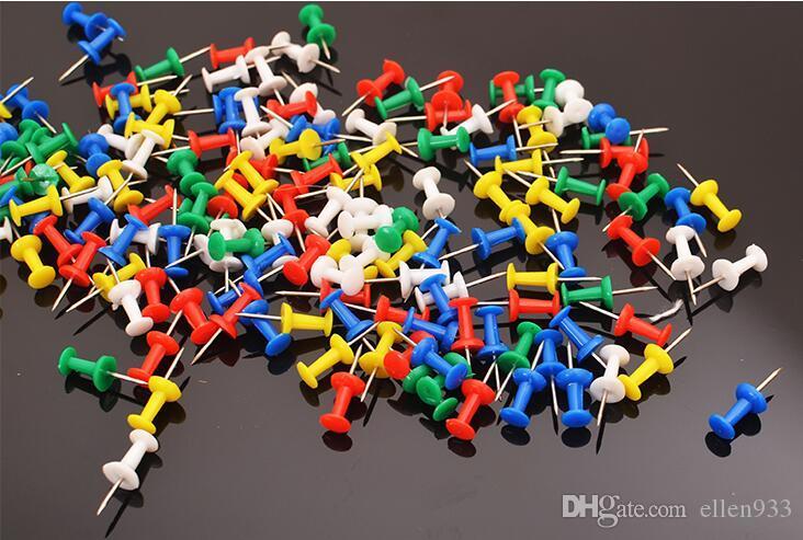 Bola redonda especial clavo foto tablero de corcho mapa de uñas marca color chincheta Colorido Prensa el clavo creativo pin diy de arte Miniaturas de dibujo wholesa