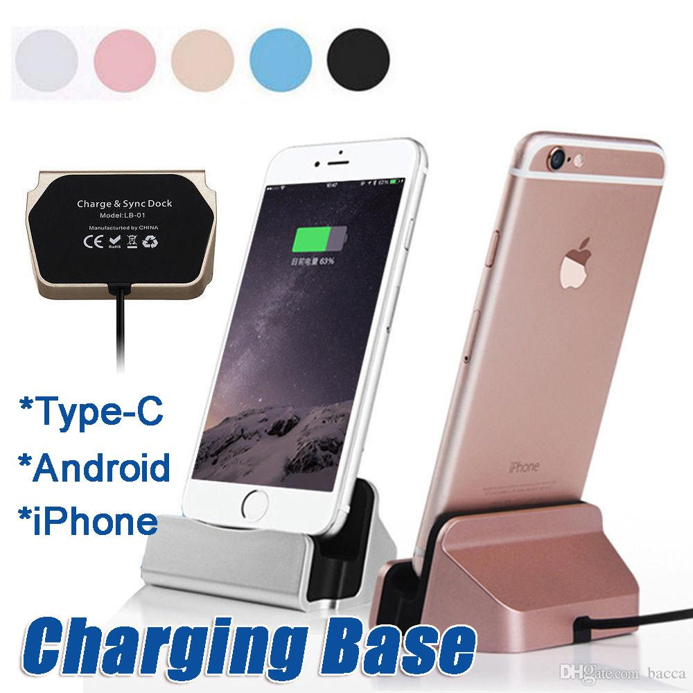 the best attitude 77477 ed462 Charging Base Dock Station For IPhone X 8 7 6 USB Cable Sync Cradle Charger  Base For Android Type C Samsung Stand Holder Wireless Charging Pads Cell ...