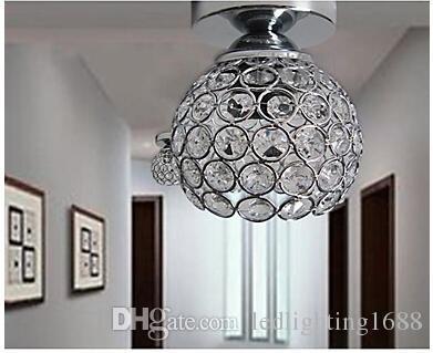 5 w LED Ferro Forjado Pintura De Pulverização De Solda Absorver Dome Luz Moderna Idéias Pintado K9 Lâmpada de Teto de Cristal Quarto 1 Luz 110-240 v