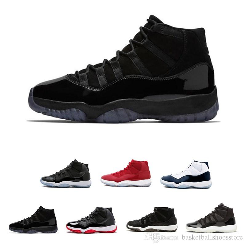 Kap ve Kıyafeti 11 11 s PRM Heiress Siyah Stingray Gym Kırmızı Chicago Midnight Donanma Uzay Reçelleri Erkekler Basketbol Ayakkabıları spor Sneaker