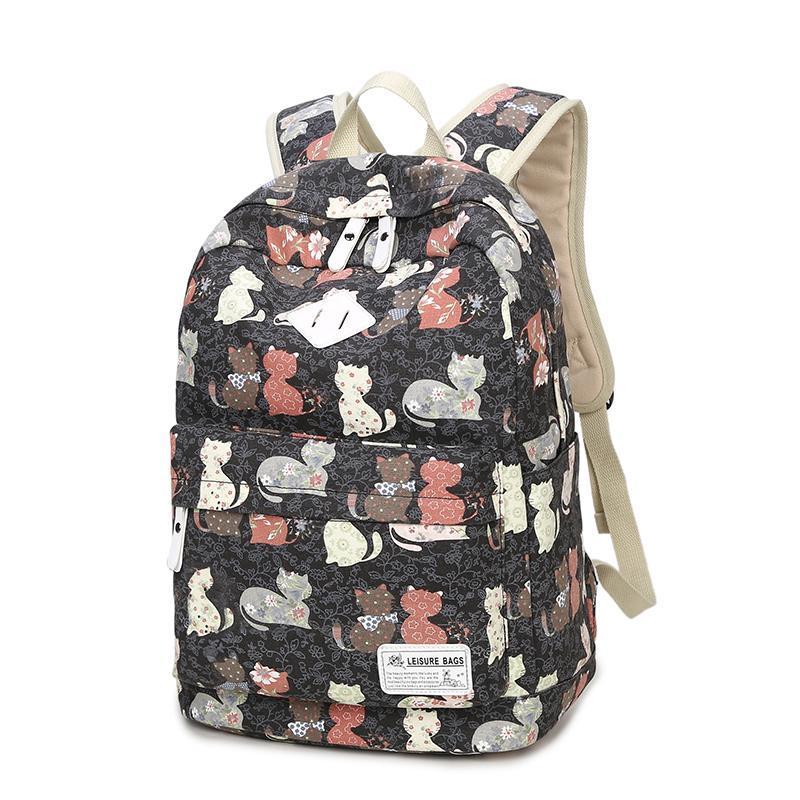 ZENBEFE Милый рюкзак качество женщины рюкзак печать рюкзаки для девочек кошка шаблон школьный мешок ForTeenagers рюкзак женский