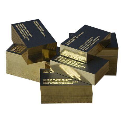 Großhandel 200 Blatt Benutzerdefinierte Visitenkarte Beide Double Side Gold Silber Folie Karte Drucken Benutzerdefiniertes Material 500 G M