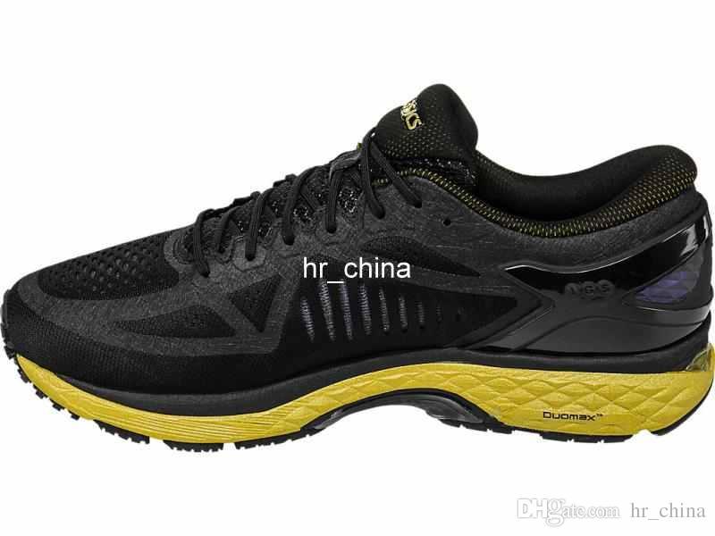 Großhandel Begrenzte Asics MetaRun T641N 9099 Stabile Stoßfeste Laufschuhe Marathon Schwarz Gold Herren Netzschuhe FlyteFoam Sport Sneakers Größe