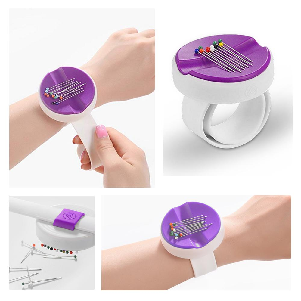 Purple Tanke Magnetic Pin Cushion Magnetic Sewing Box New Sewing Storage Box Wrist Magnetic Box Knitting DIY Wrist Magnetic Needle Box