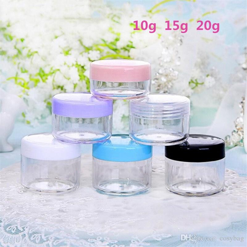 10g 20g Jar Cosmetic Sample Empty Container Clear Plastic Sample Containers Pot Jars Makeup Container B0241