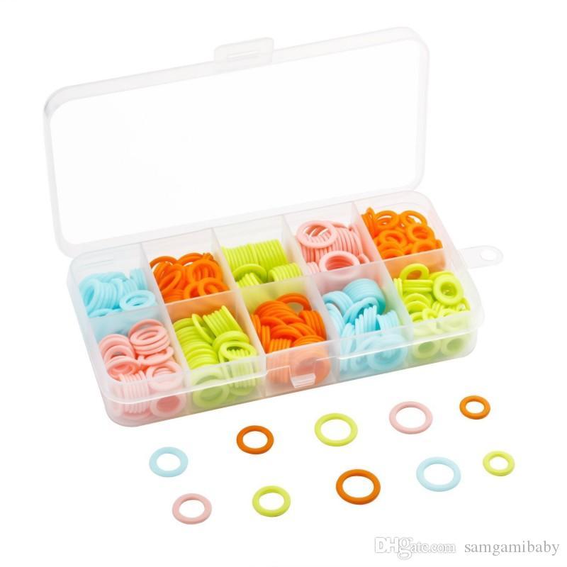 120 قطعة / مجموعة خواتم جديدة غرزة الحياكة الملونة علامات الحياكة مع تخزين مربع (متعددة الحجم) حرية الملاحة