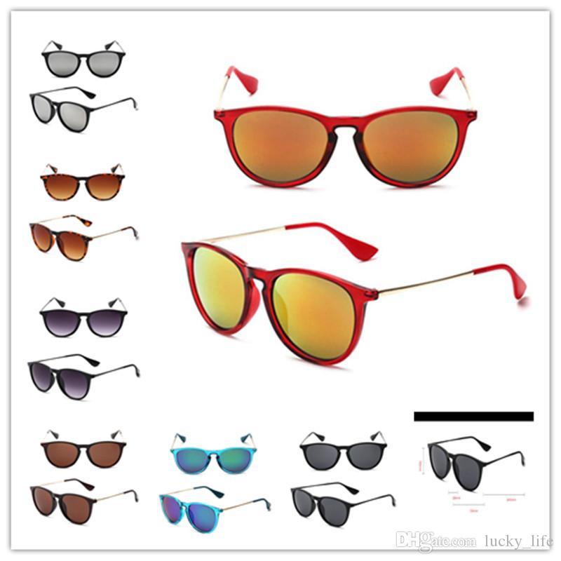 2018 Marca óculos de sol óculos de sol moda mulheres designer Erika High Temple Sun Metal 4171 54mm qualidade xmcwl