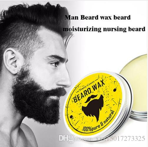 Men Beard Oil Balm Moustache Wax for styling Beeswax Moisturizing Smoothing Gentlemen Beard Care Hair Loss Products