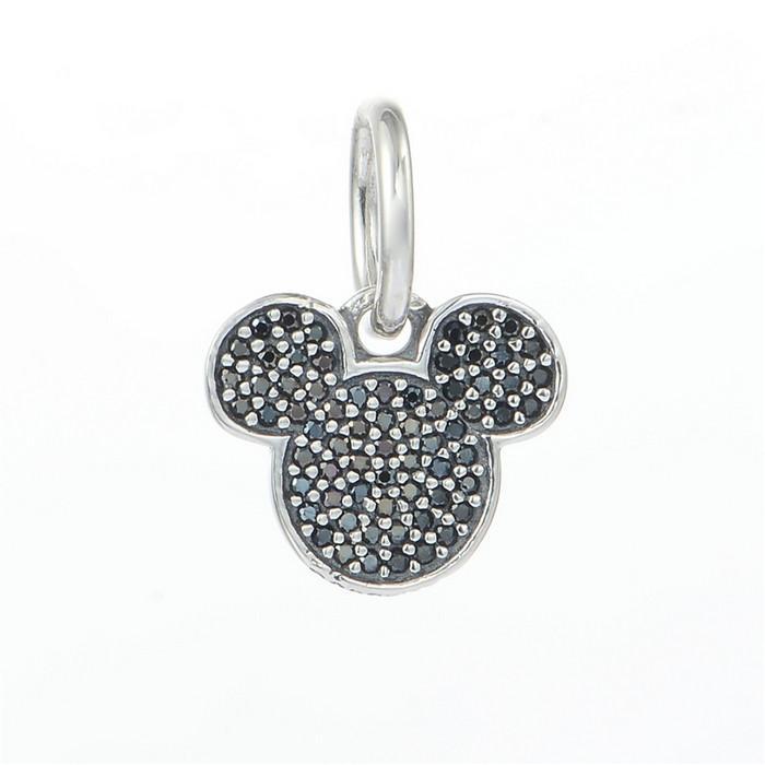 5 pcs/Lot Dangle silver charms real 925 sterling silver fits pandora style bracelets sparkling 791446NCK H6