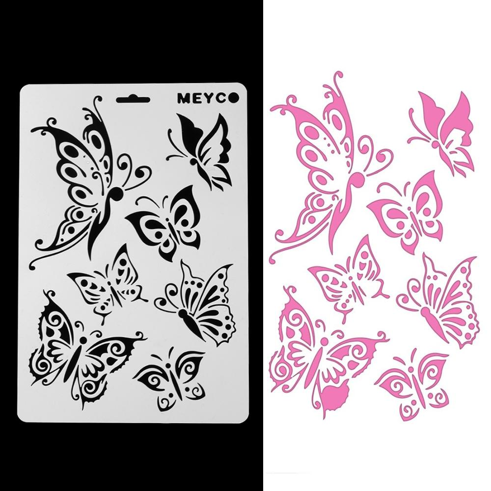 2019 Butterfly Stencils For Wall Painting Diy Scrap Photo Album Paper Card Making Craft Decorative Embossing Template From Dparrot Love999 3 92