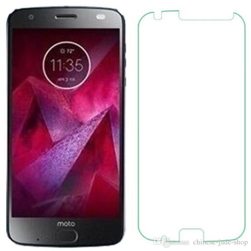 9H Premium 2.5D Protector de pantalla de cristal templado para Motorola Moto X5 G6 Plus Z2 Z3 Play 200pcs / lot