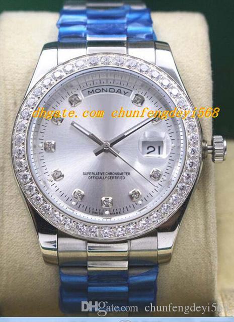 Luksusowe zegarki Męskie 18K Silver / Yellow Gold Diamond Wegel Watch 18338 Automatyczne mody męskie zegarek zegarkowy