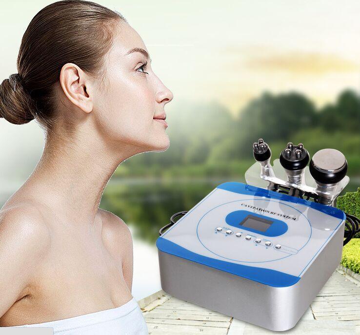 Vente chaude Portable 3 en 1 Accueil Cellulite Ultrasonique Cavitation Radio Fréquence Cellulite Minceur Machine Vide RF Soins Du Peau Faciaux Beauté