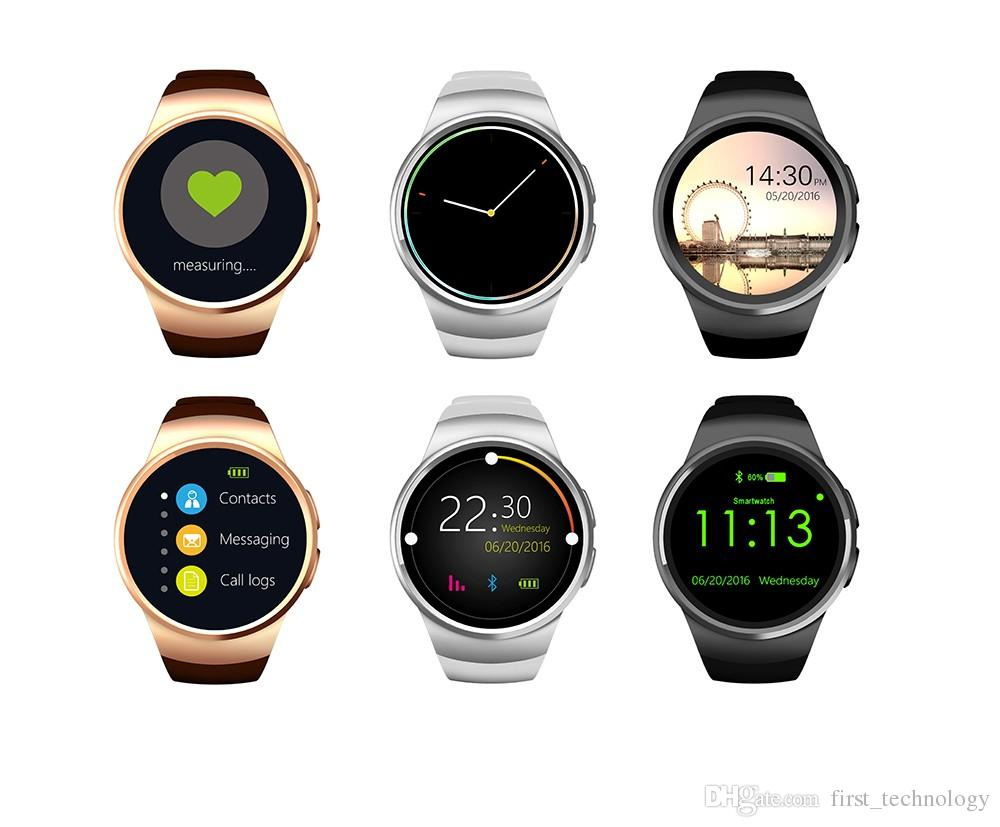 오리지널 KW18 블루투스 스마트 시계 전체 화면 지원 SIM TF 카드 Smartwatch 전화 심박 측정기 for ios Andriod Phone