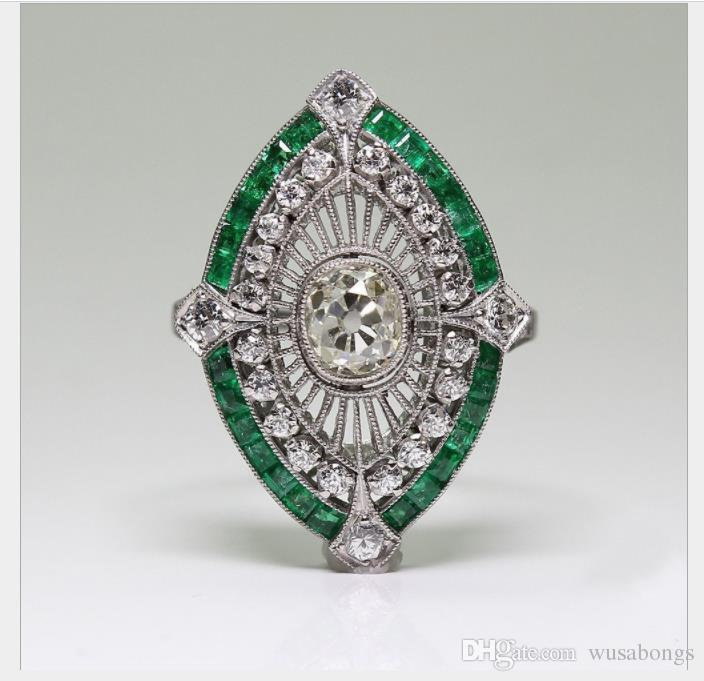 Bakır mikro elmas bayan nişan yüzüğü, Avrupa ve Amerikan kare Taş Yüzük süsler
