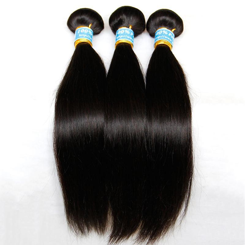 Peruvian Virgin Hair Straight 3/4Pcs Lot Unprocessed 8A Peruvian Remy Human Hair Extensions Cheap Peruvian Hair Weave Bundles Free Shipping