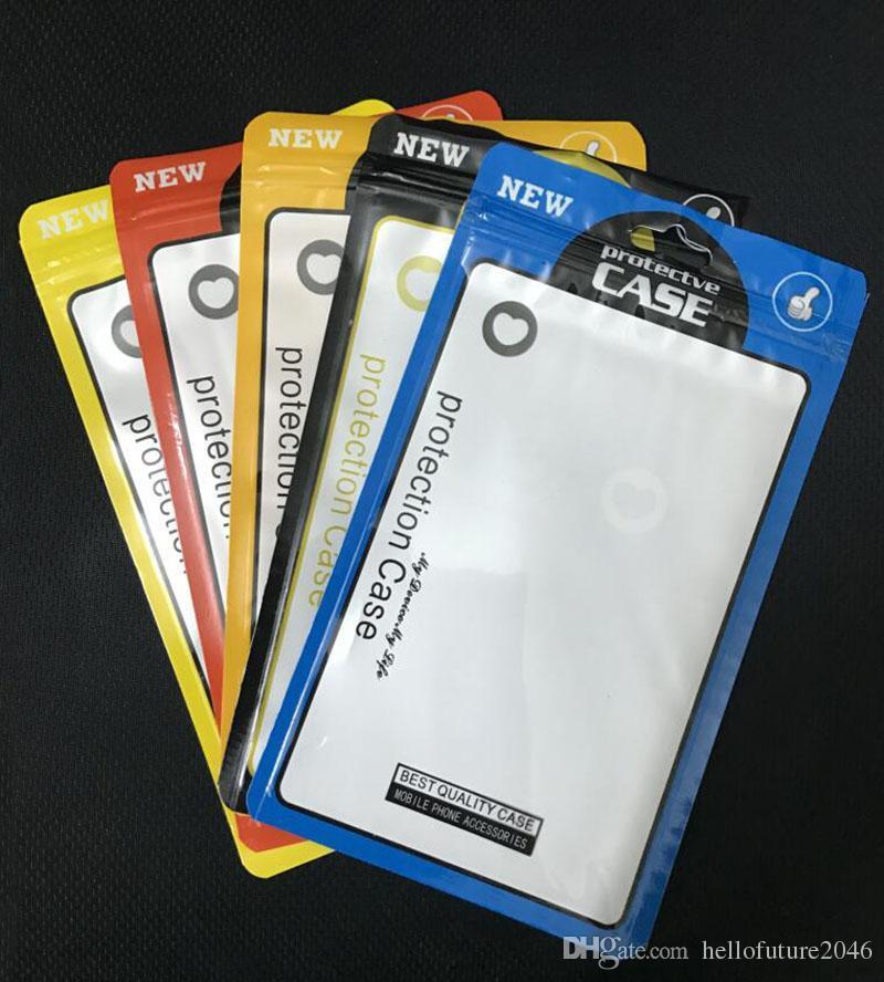 Reißverschluss Kleinpaket Box OPP PP PVC Poly-Beutel für iPhone 8 7 6 Plus Samsung S8 Telefon-Kasten-Leder-Kasten-Abdeckung