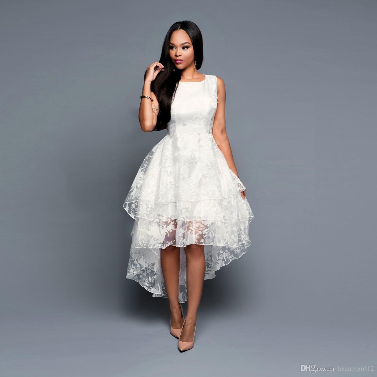 New wedding dresses women sexy party dress white black xxl