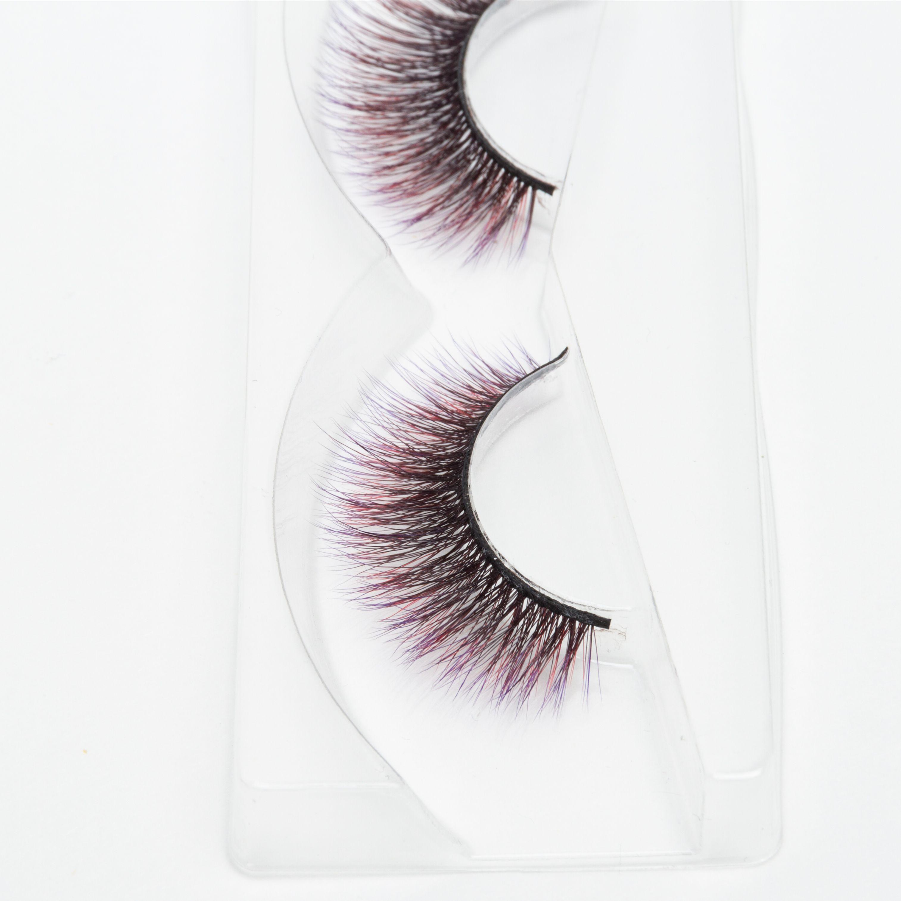 Seashine beauty 3d silk FANCY color lashes factory price 3d colorful silk lashes false eyelashes free shipping C6