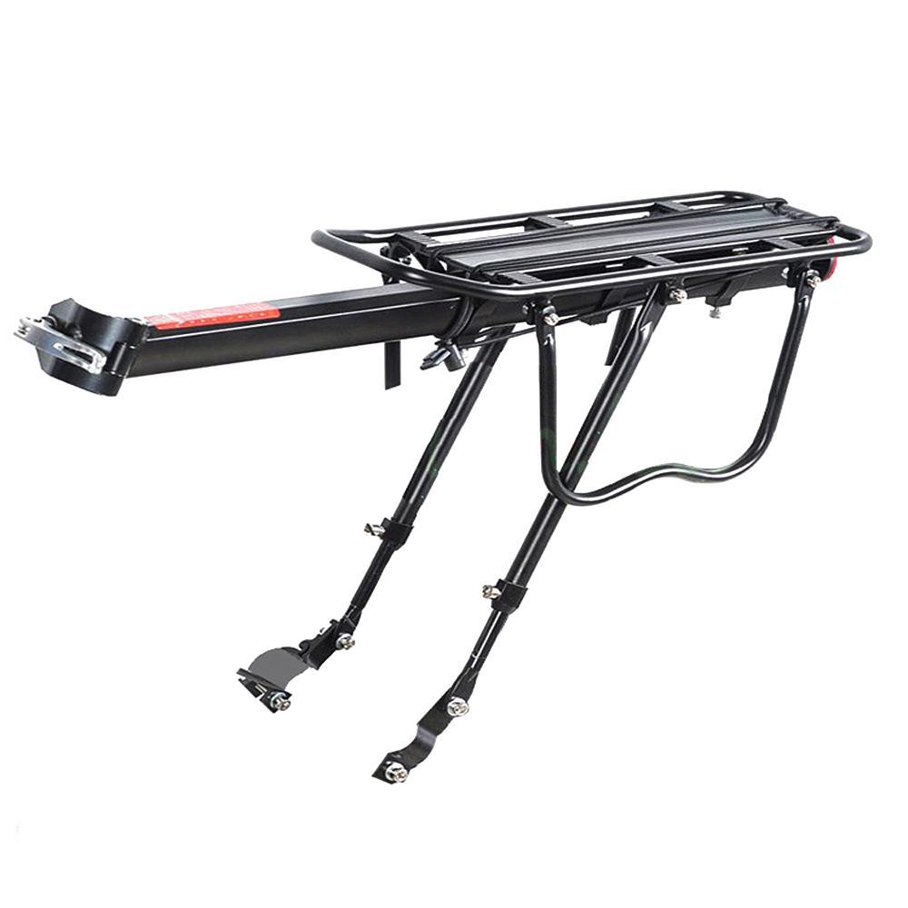 좋은 거래 - 검은 자전거 자전거 퀵 릴리스 수하물 좌석 포스트 Pannier 캐리어 리어 랙 펜더 52 x 16.5 x 9.5cm