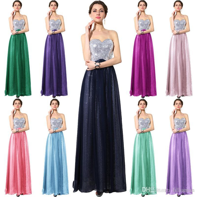 Real Image Long Chiffon Bridesmaid Dress With Sweetheart Empire A Line Lace Up Back Lilac Blue Prom Party Gown In Stock Cheap Plus Size 74