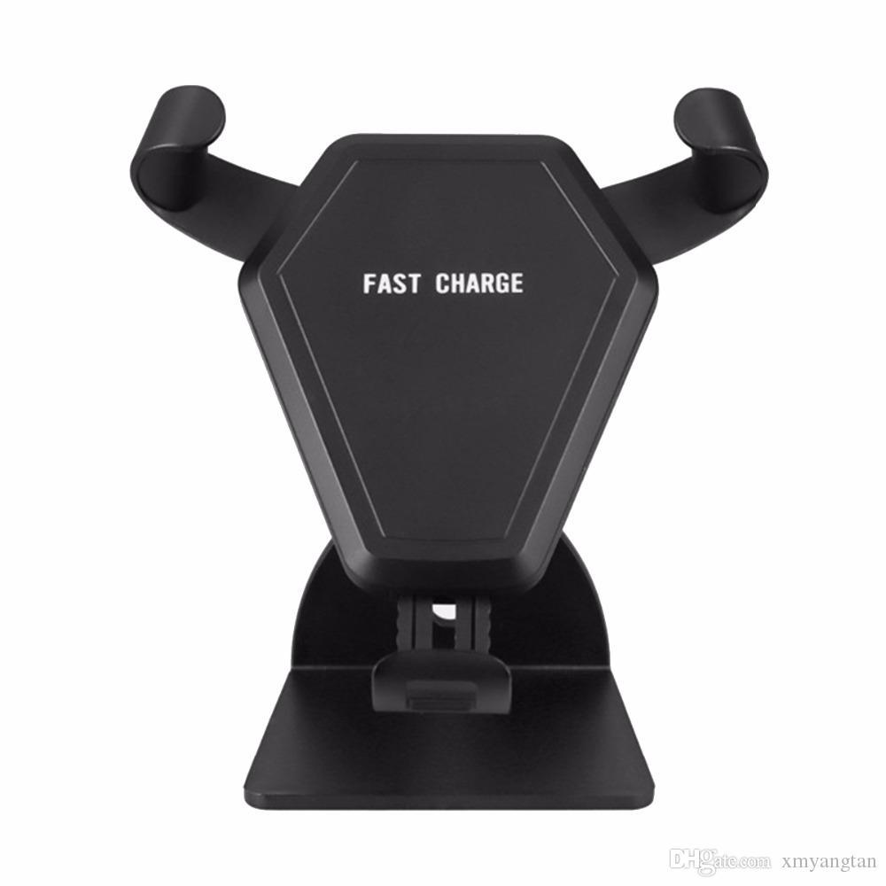 Qi Standart Kablosuz Araç Şarj İndüksiyon Streç Telefon Tutucu Handsfree Araç Kiti Hızlı Şarj Adaptörü Smartphone için