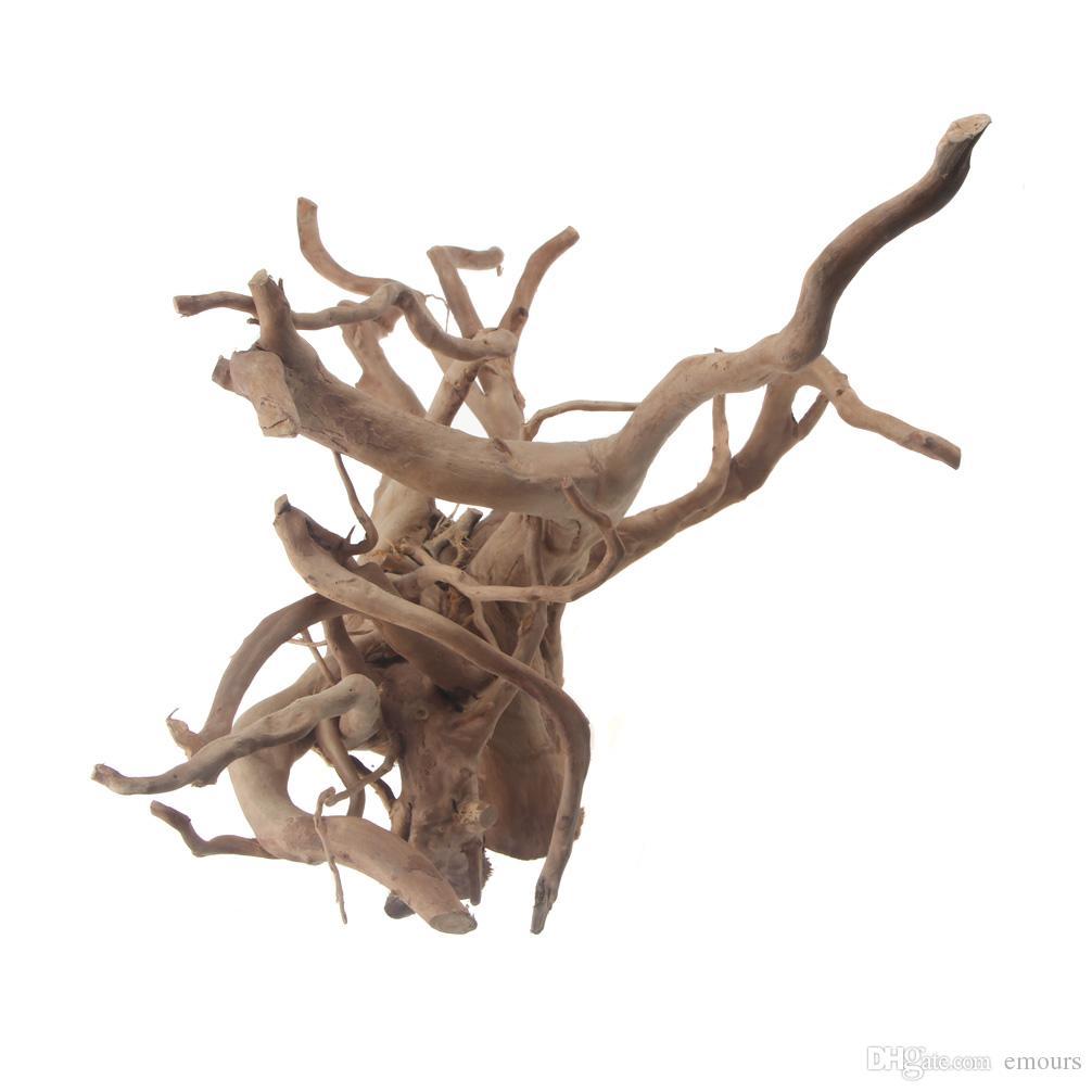 ديكور الحوض غرق driftwood العنكبوت الخشب الطبيعي العنب الأسماك خزان الديكور الاستوائية الأسماك النباتية الموائل ديكور xs s m l x