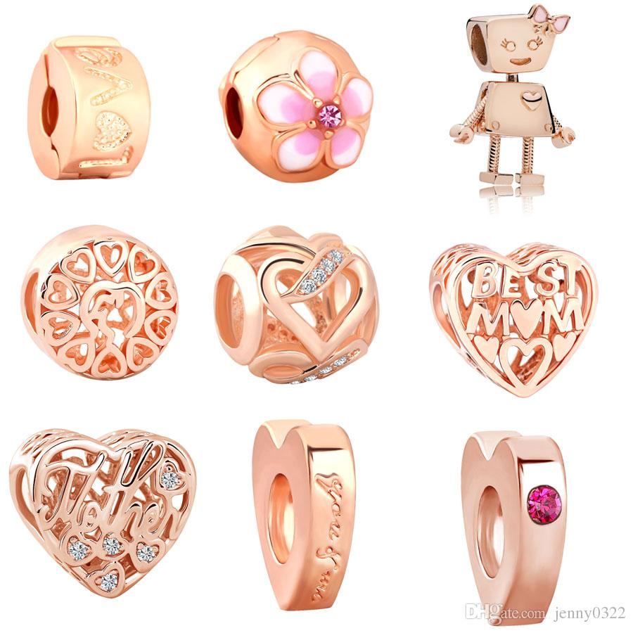pandora-charm oro rosa