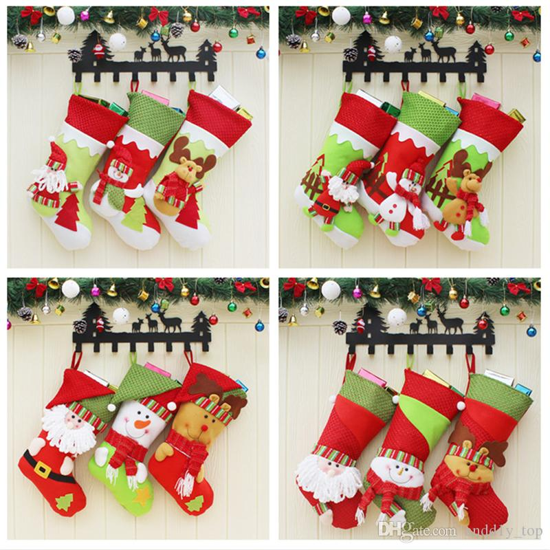 Christmas Eve Gift Bags Candy Apple Bag Kids Friends Gift Home Xmas Decor Y
