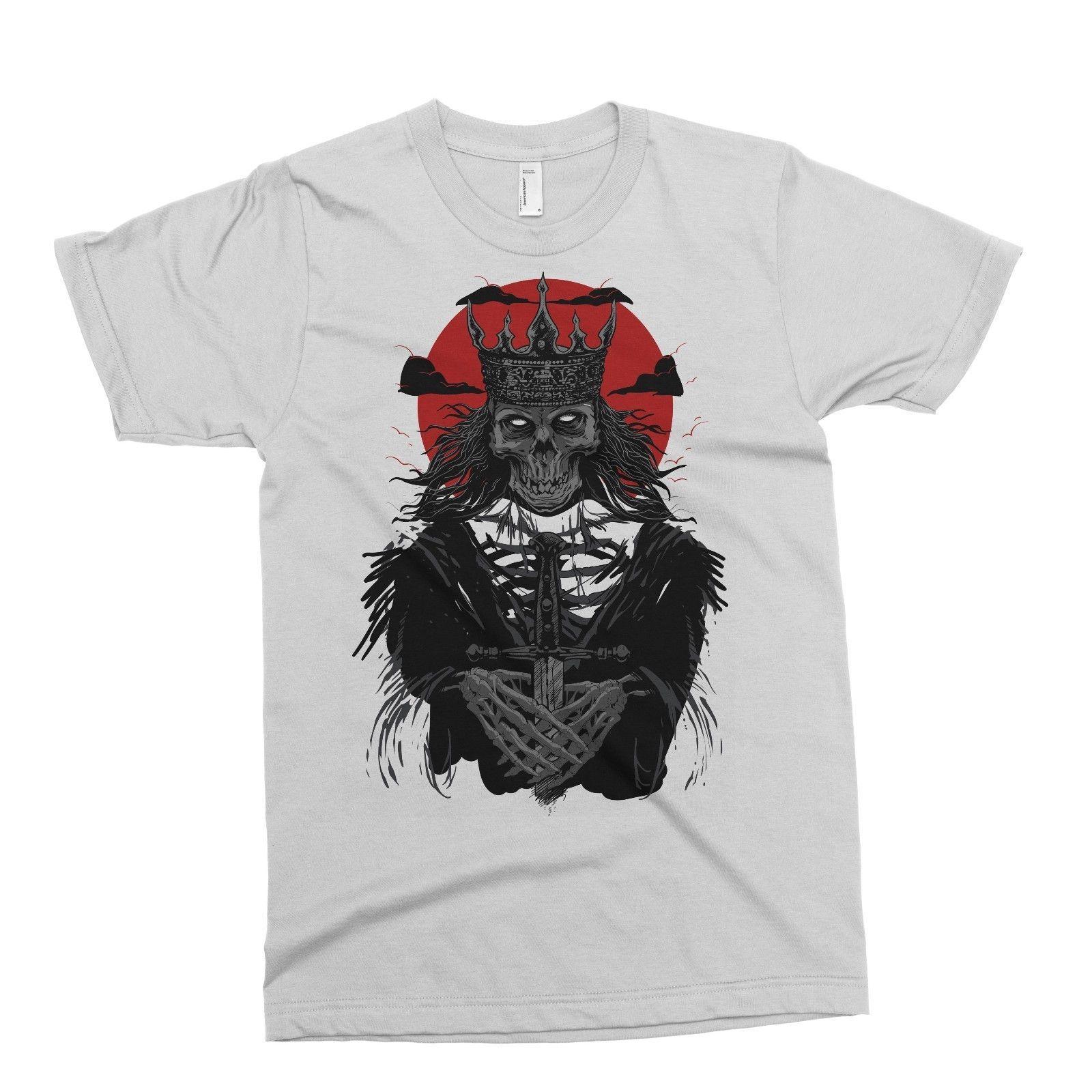 White Dead King T Shirt Tattoo Alternative Rebel Circus Drop Dead Tattoo O  Neck Fashion Casual High Quality Print T Shirt Fun Tshirts Party T Shirts