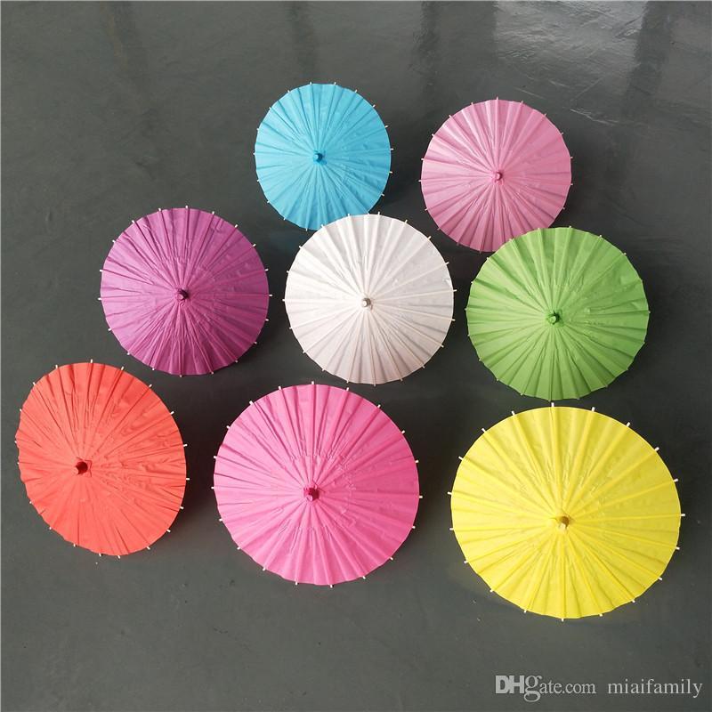 Bridal wedding parasols Colorful paper umbrellas Chinese mini craft umbrella Diameter 20/30/40/60cm wedding umbrellas for wholesale