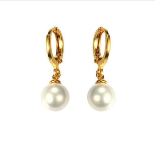 Banhado a ouro 18k moda jóias feminino pérola gota dangle brincos