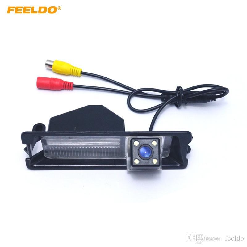 Cámara trasera FEELDO especial de la opinión del coche con luz LED para Nissan March / Micra / Renault pulso # 4285