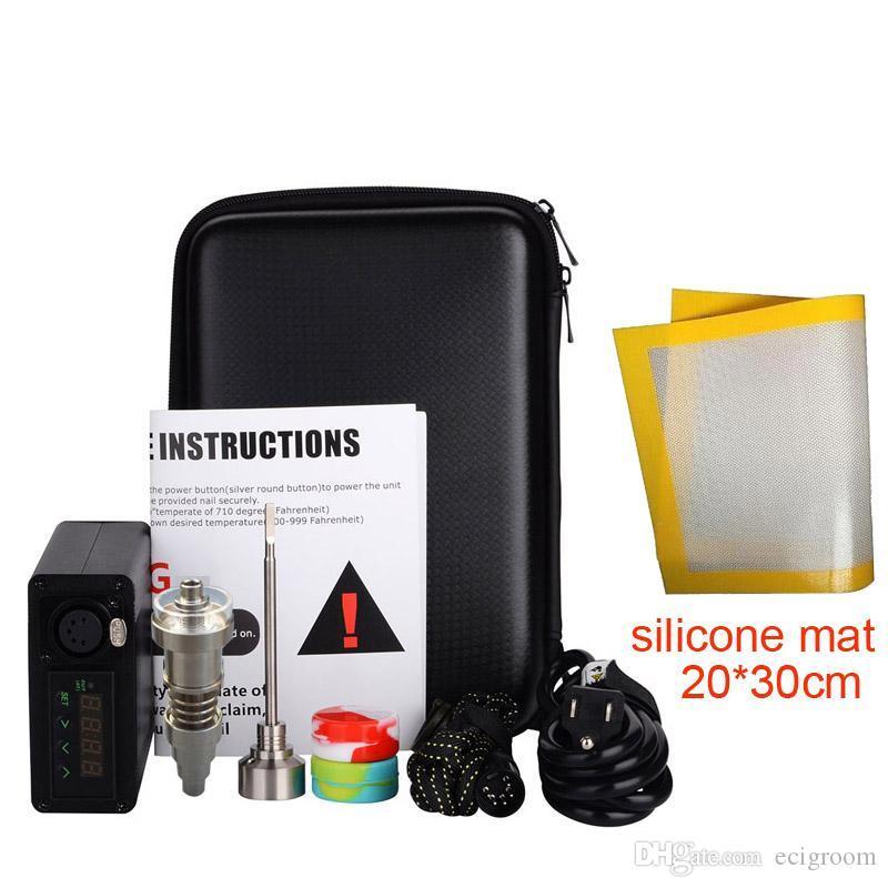 Enail portátil dab kits de unhas narguilé digital PID temperatura dabber caixa com Quartz pregos bobina aquecedor para bongo de vidro de água