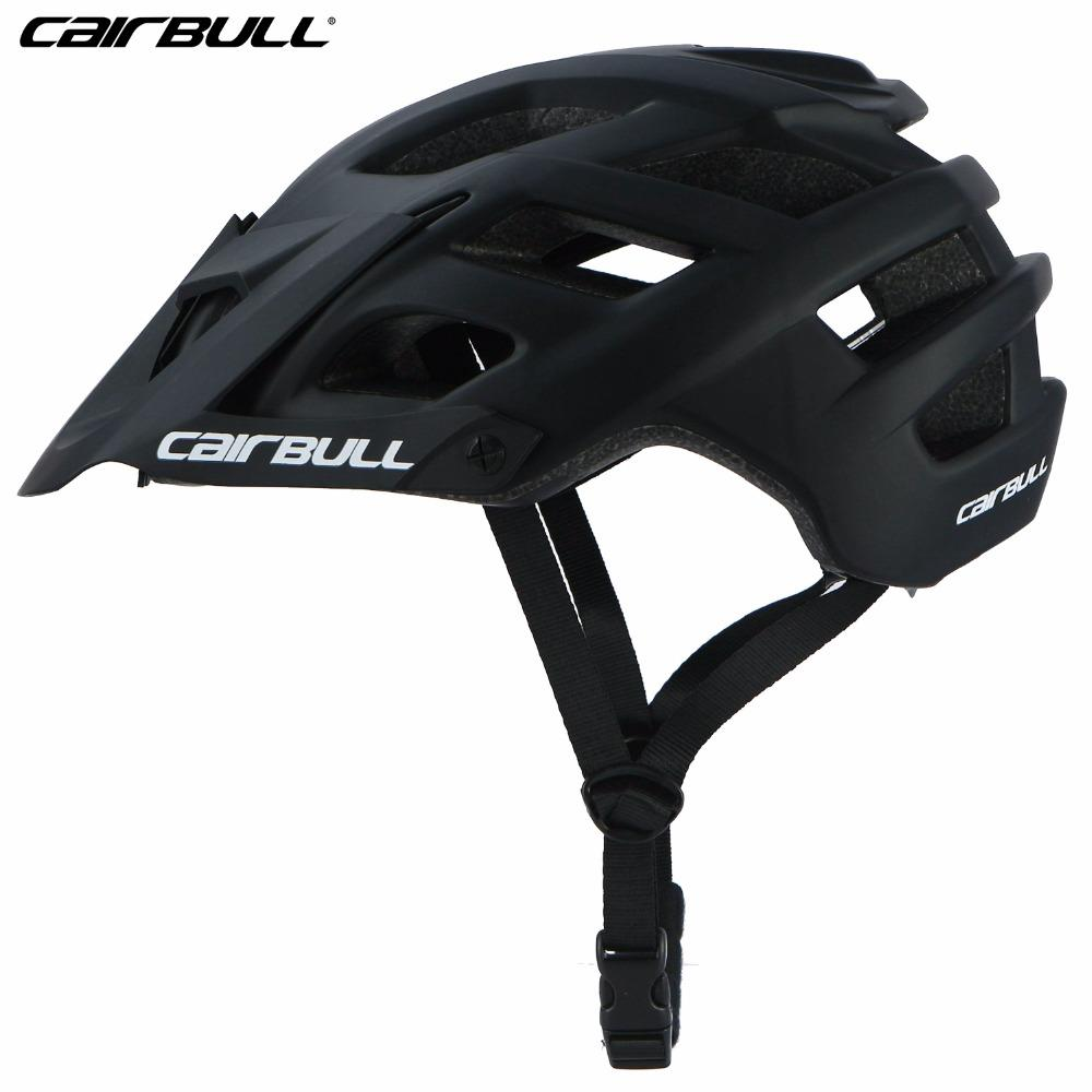 CAIRBULL New Cycling Helmet  Ciclismo PC+EPS Bicycle Bike Adjustable Visor Mountain Helmet Men Women Safety MTB Casque V