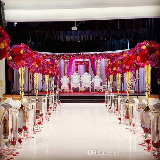 Hotel supplies flower decoration wedding DIY party decor luxury props wedding centerpieces table vase home decor flower holder ornament