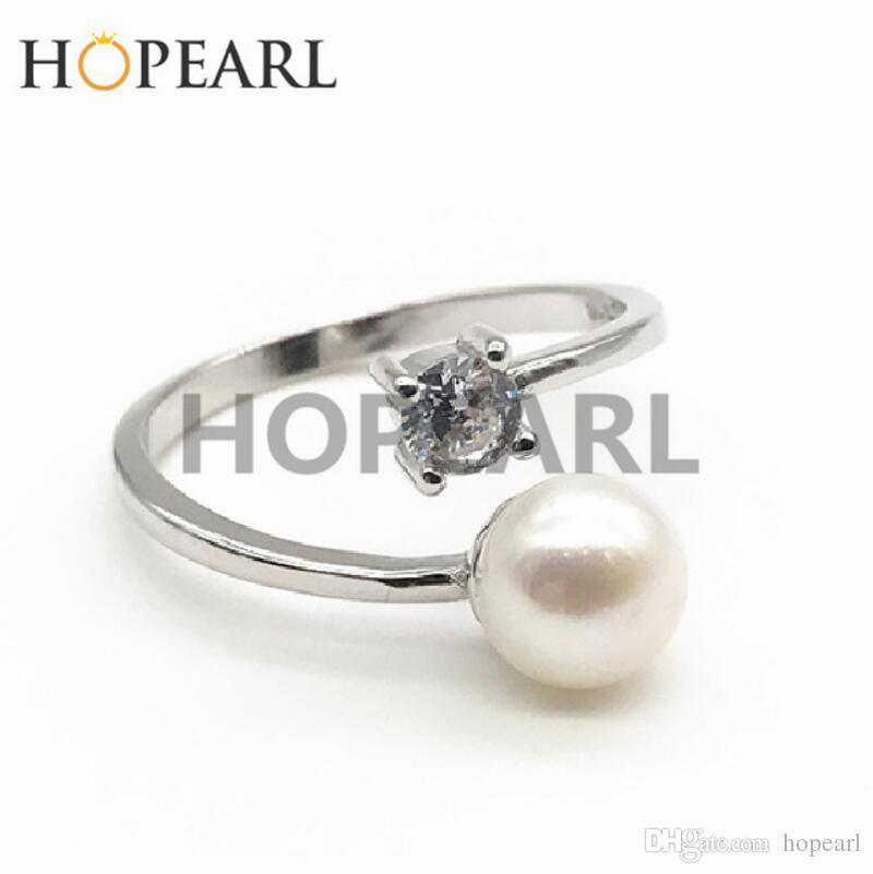 bague en argent massif avec une bague en zircone cubique vierge sans perle femme bijoux