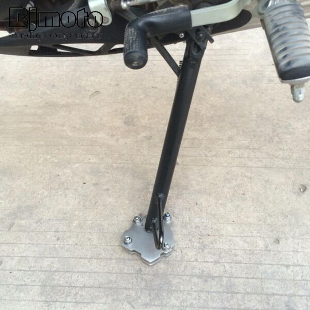 Color : Black Motociclo di alluminio di CNC Cavalletto laterale Estensione Piastra Cavalletto zoom estensione for KAWASAKI Z650 2017-2020