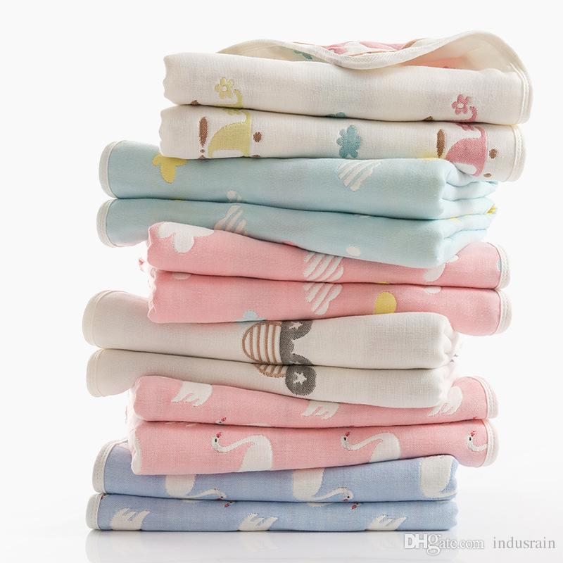 Baby Muslin Blanket Envelope Swaddle For Newborns Pure Cotton Gauze Bath Towel For Infant Soft Hold Wraps 110x110cm