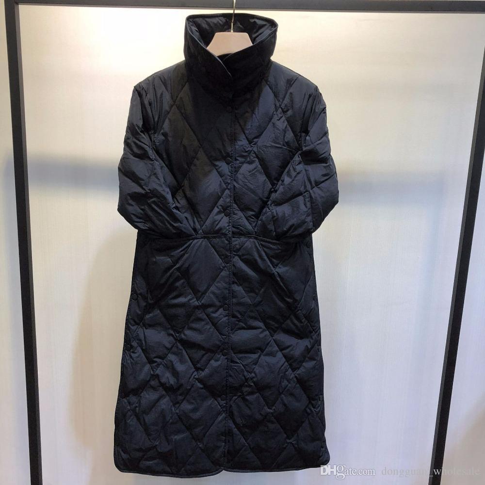 Großhandel US UK CA AU Frauen Herbst Winter Übergroße Leichte Dünne Lange Warme Parka Weiße Ente Argyle Daunenmantel Und Jacke Mint Female Outwear Von