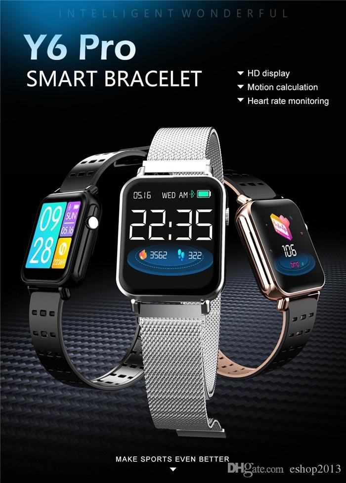 New Y6 pro Digital Men Women Smart Watch reloj inteligente Activity Fitness Tracker Heart Rate Monitor Sports Smartwatch Wristband