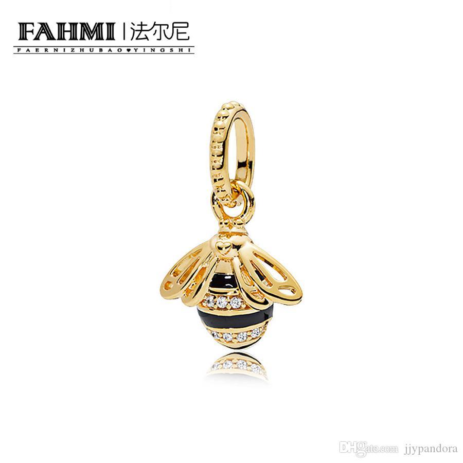 Fahmi 100% 925 Sterling Silver 1: 1 Oryginalny 367075EN16 Autentyczny Temperament Moda Glamour Retro Wisiorek Wedding Women Jewelry